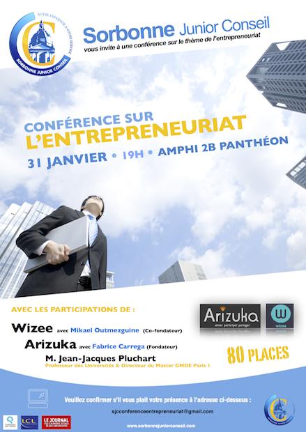 Sorbonne Junior Conseil - Conférence entrepreneuriat