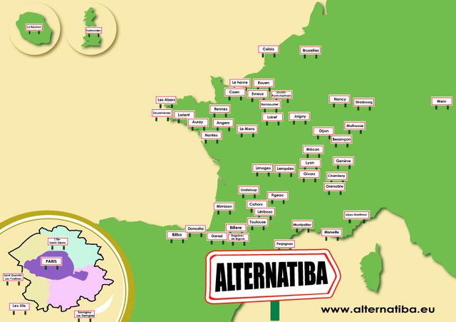 Carte des Alternatiba