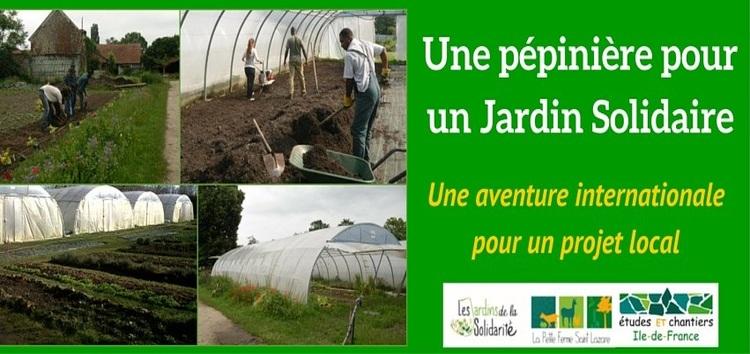 Une pépinière pour un Jardin Solidaire : Une aventure internationale pour un projet local
