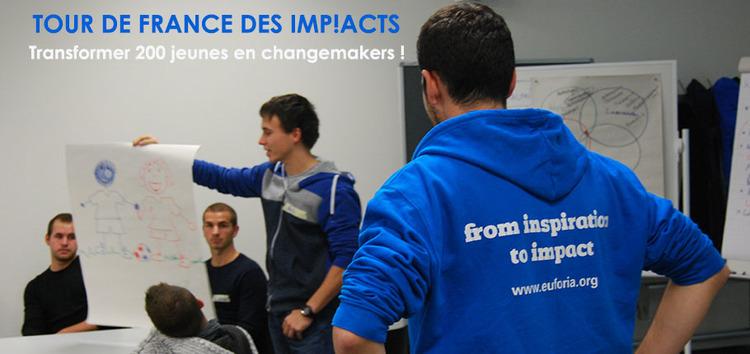 Tour de France des imp!acts   : imp!act : transformer 50 jeunes en changemakers !